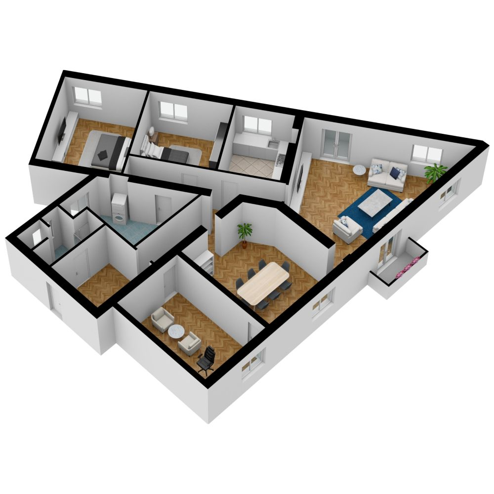 3d Dollhouse View Made On Floorplanner Com Create Floor Plan Floor Plans Interior Design Software