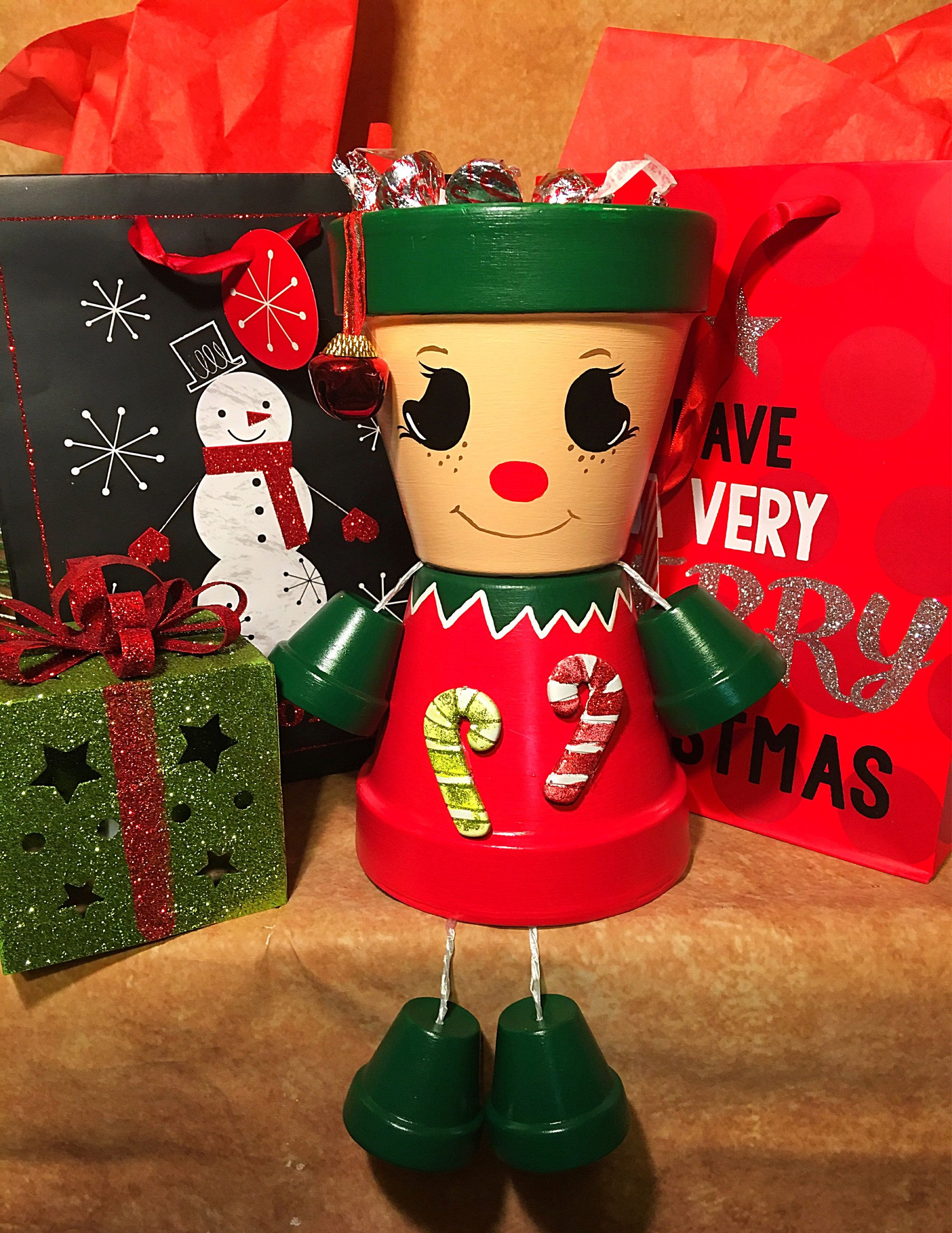 Elf Holiday Decoration with gift bag, Elves, Garden ...