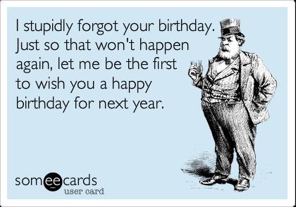 Top Verjaardag vergeten? Maak het goed met behulp van een fijne tekst &ZP98