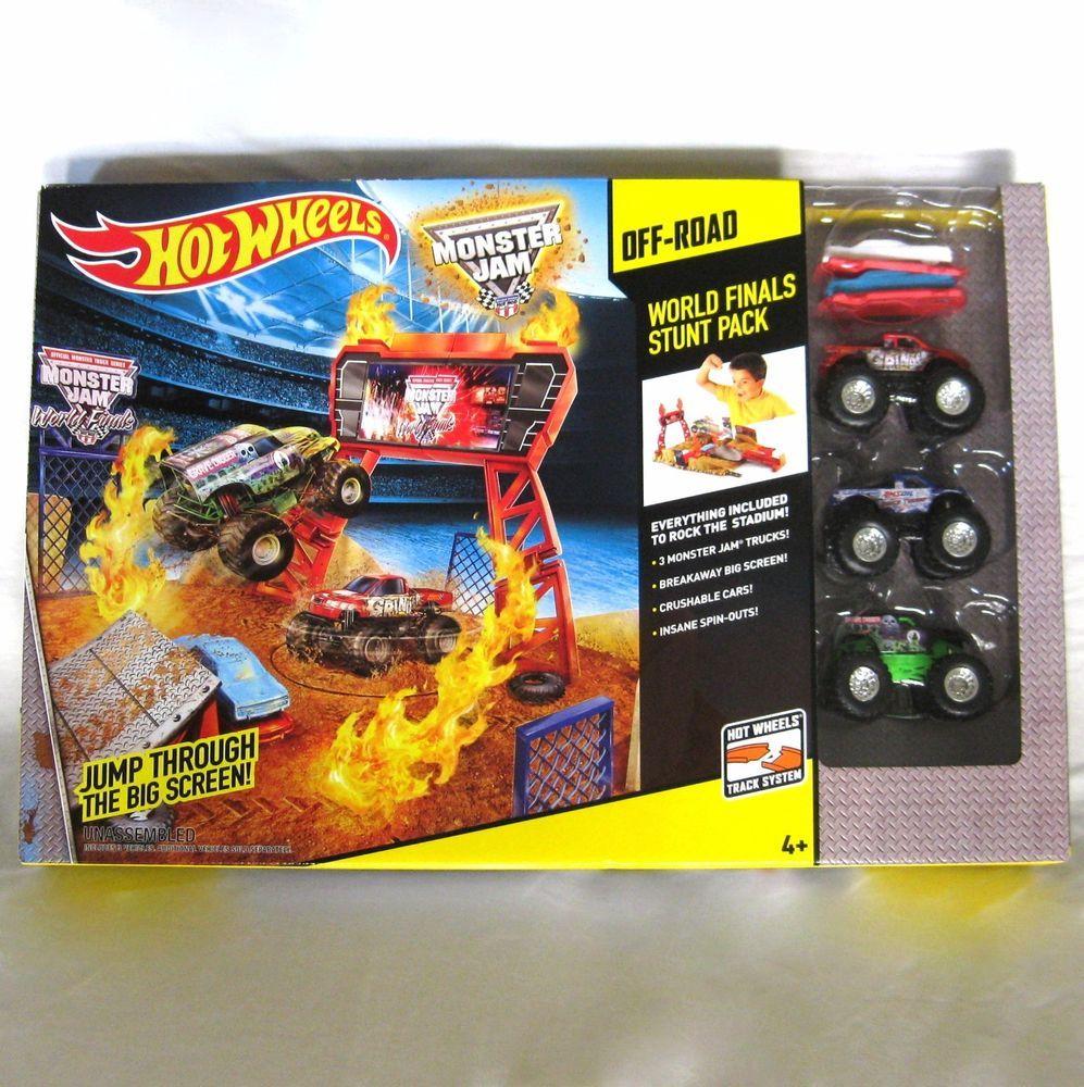 Mattel Hot Wheels Monster Jam Stunt Stadium World Finals Set
