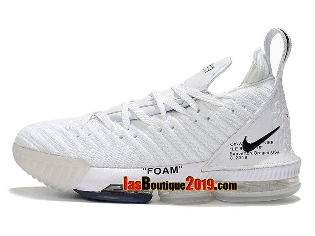 check out b6843 78797 Officiel Off-White x 2018 Nike LeBron 16 White Chaussures de Basket 2018 Pas  Cher