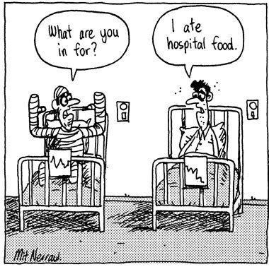 Image result for hospital food cartoon