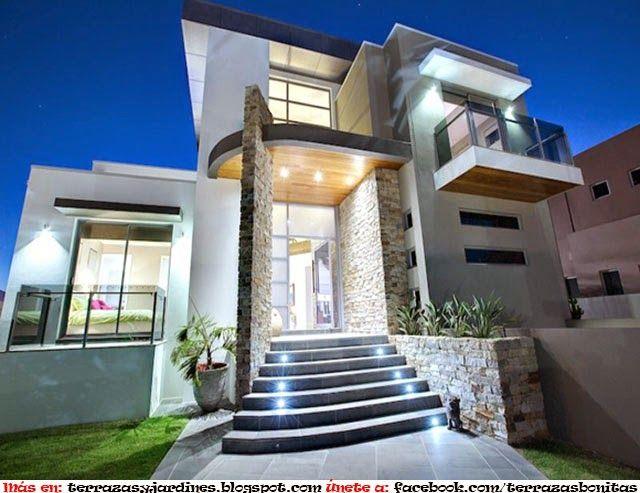 Fachadas para casas peque as casas en 2019 facade for Las mejores fachadas de las villas