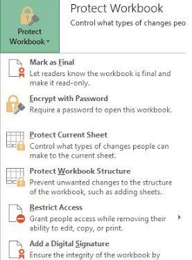 How To Password Protect Excel 2013 Excel Passwords Workbook