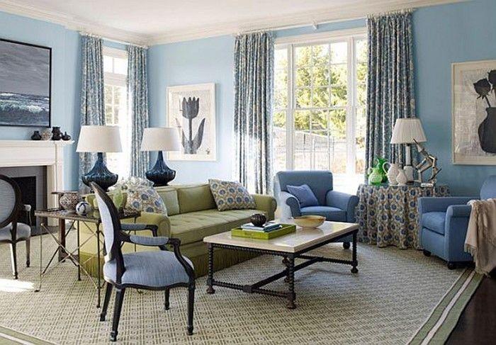 Wohnzimmer Farblich Gestalten Blau Eine Coole Gestaltung