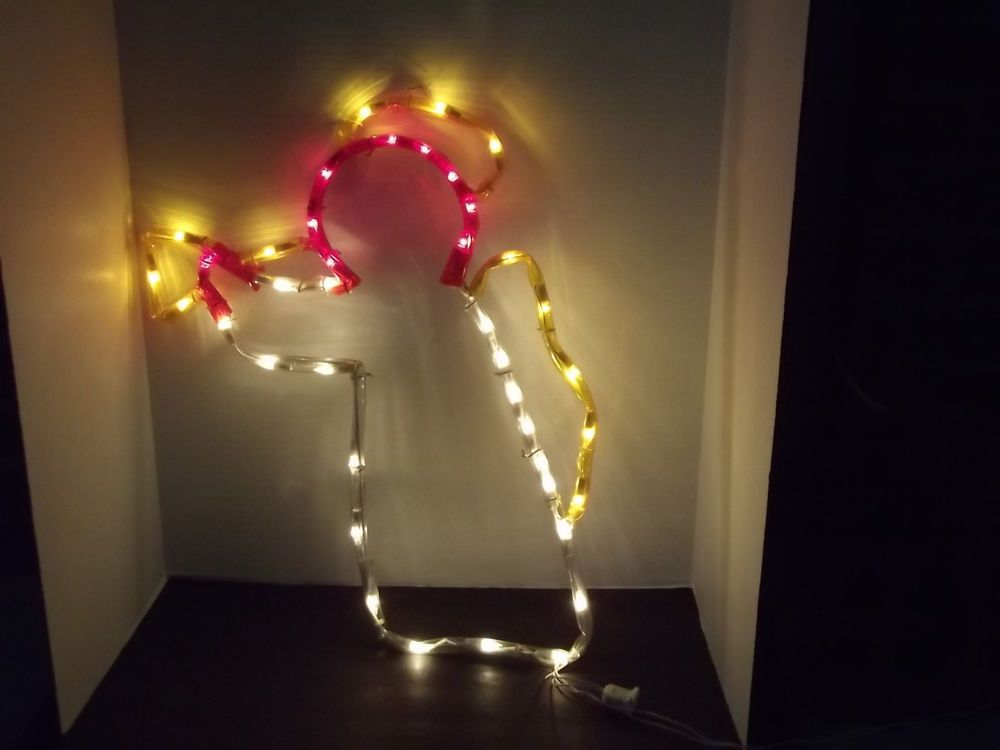 Mr. Christmas Light Sculpture 24 inch Lighted Angel Indoor or ...