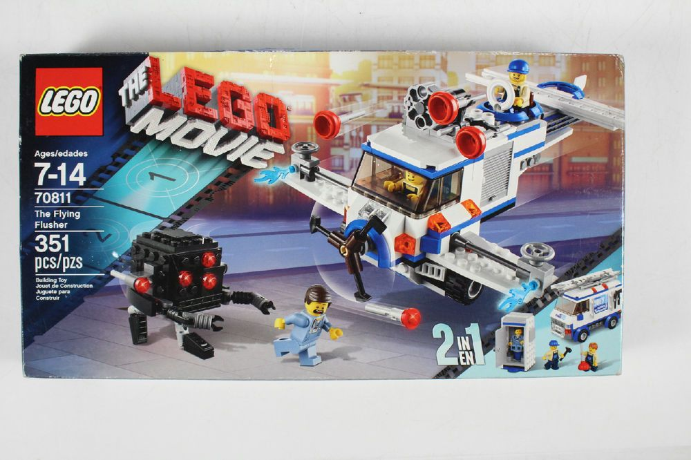 Lego The Movie The Flying Flusher 2 In 1 Building Set 351 Pieces Number 70811 Lego Lego Movie Lego Movie Sets Lego