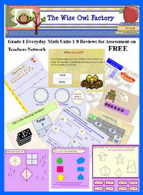 Free Units 1 8 Grade 1 Everyday Math Review For Assessments