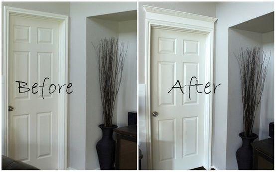 Simple Fix To Builder Grade Moldings Home Upgrades Diy Home Improvement Home