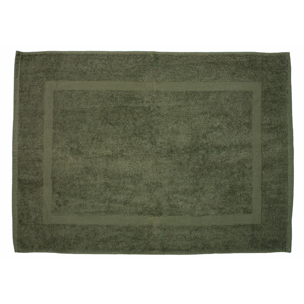J And M Home Fashions 20 In X 30 In Olive Green Provence Bath