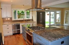 Image result for large L shaped kitchen island with stove top ...