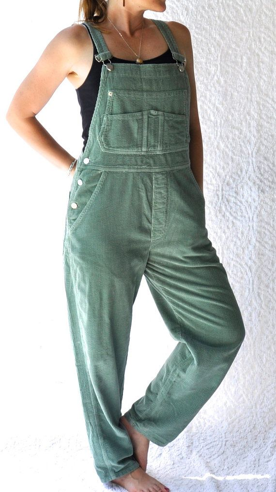 0d5cf6bc68 Soft Thick Cords in Pretty Sage Green ~ Staple Vintage for All Seasons ~  Shoulder Straps Adjust ~   Label is Sundance Catalog Company