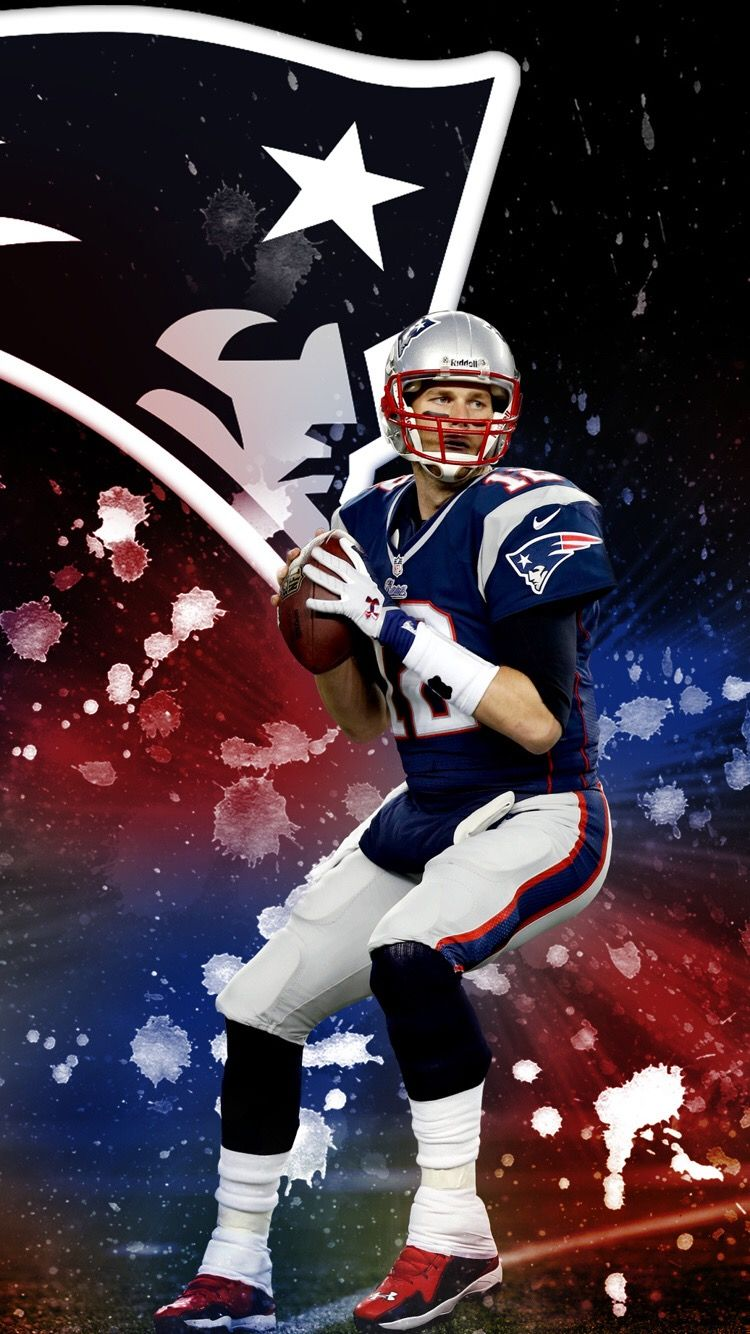 THE GOAT (With images) New england patriots wallpaper