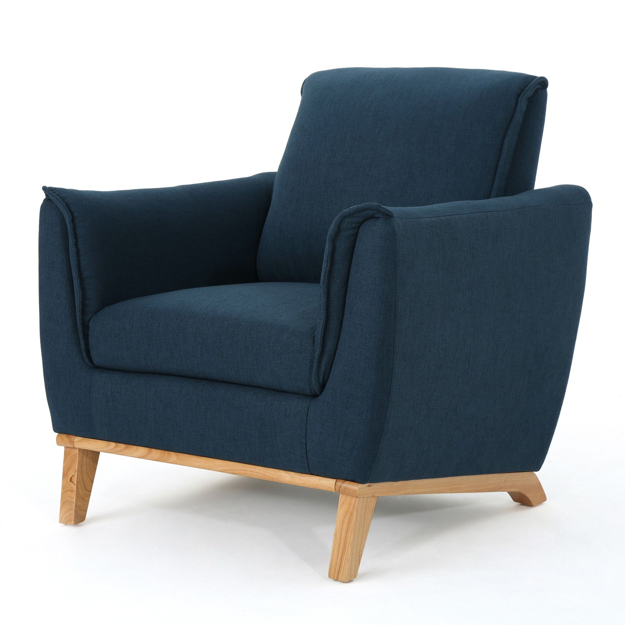 Christopher Knight Home Gwyneth Mid Century Club Chair Navy (Blue)