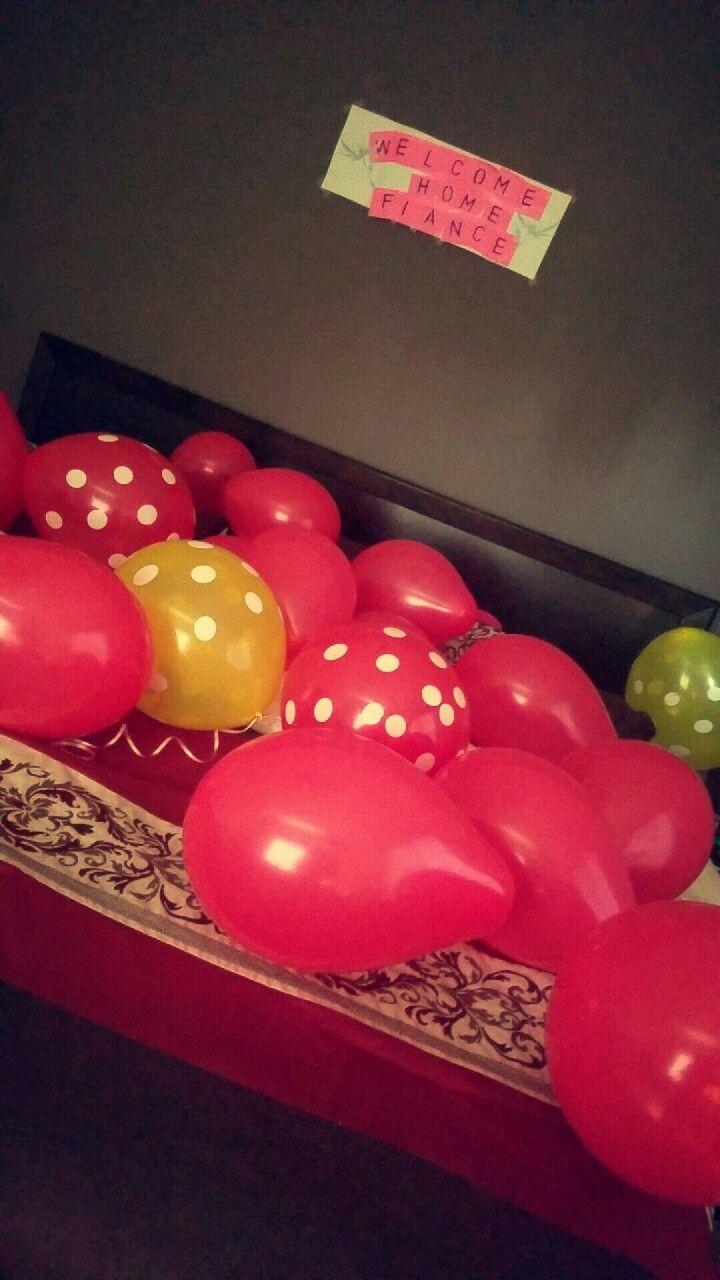 Welcome Home Ideas For Boyfriend Fiance Husband Diy Pinterest