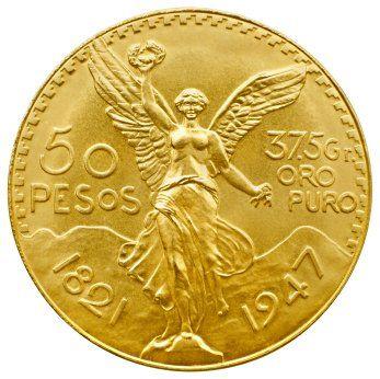 50 pesos gold