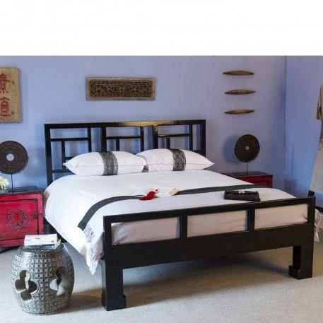 Black Lacquer Bed Kingsize 2 495 00 W 166cm D 207cm H 113cm