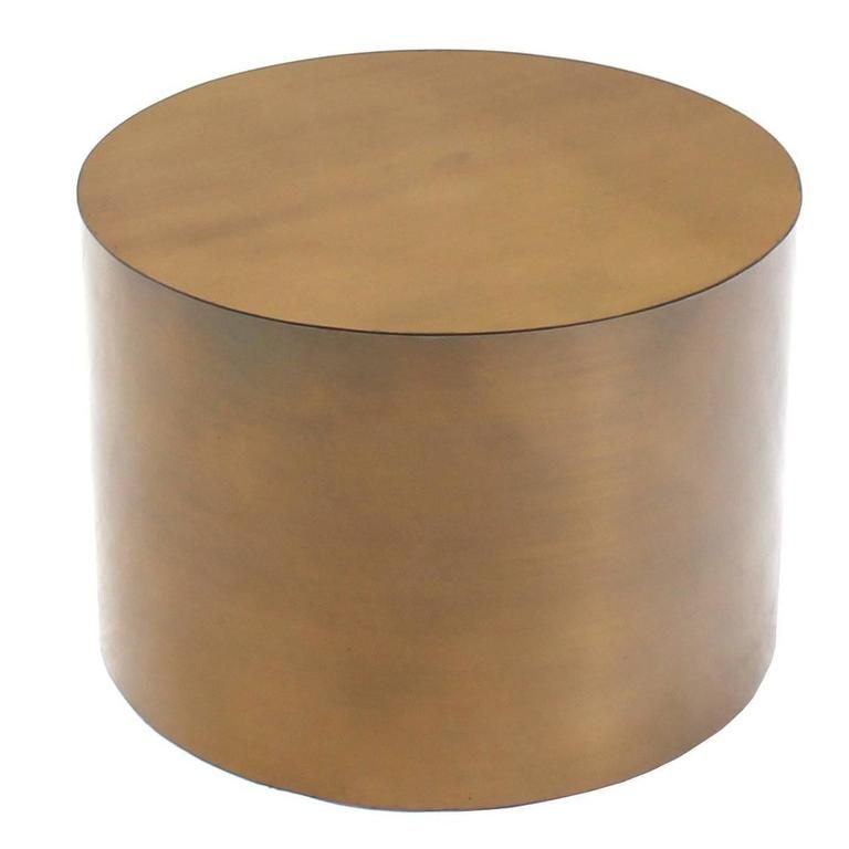 Bronze Drum Side Table