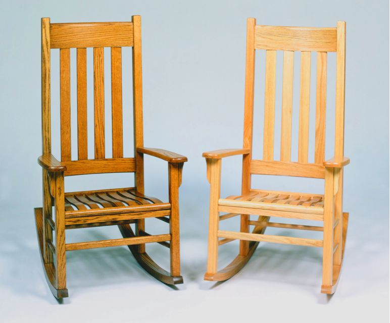 Georgia Chair Company Padded Folding Chairs Walmart Another Set Of Solid Oak Rockers Finished In The More Original Style Gainesville Ga