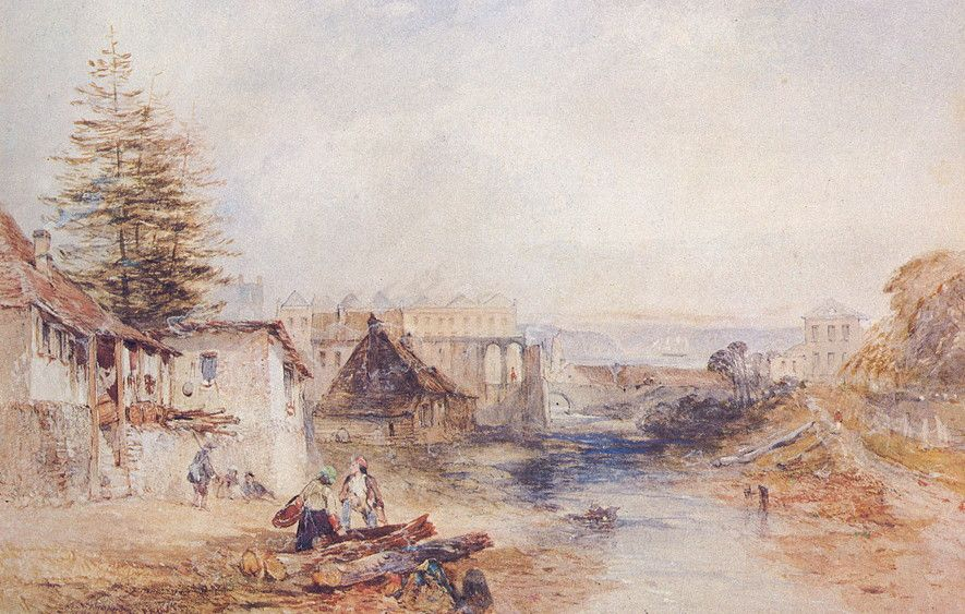 Tank Stream by J. Skinner Prout c. 1840's