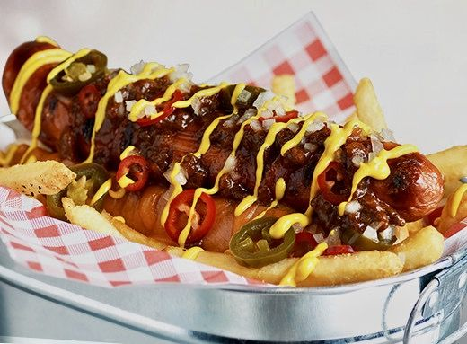 Hot Dog Tgi Friday S Food And Drink Hot Dogs