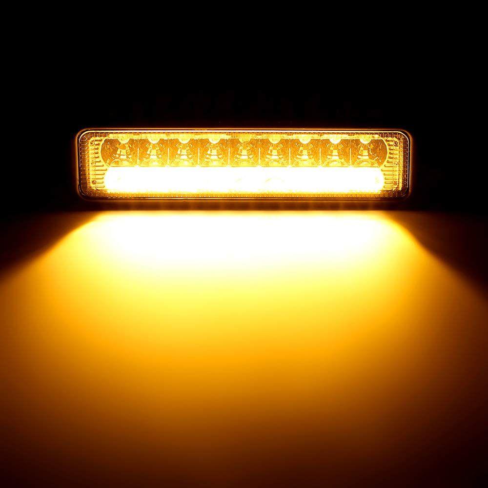 12V or 24V 16 Watt LED Dual Color White and Red Floodlight and Spreader Light