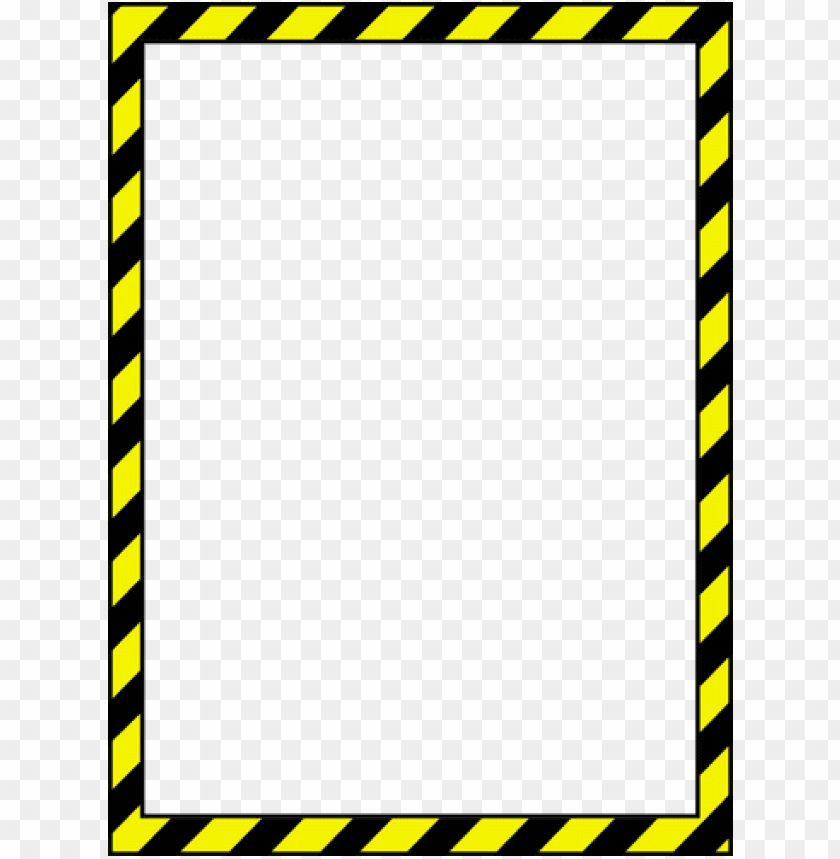 Caution Tape Clip Art Caution Border Png Image With Transparent Background Png Free Png Images Caution Tape Border Kids Invitations
