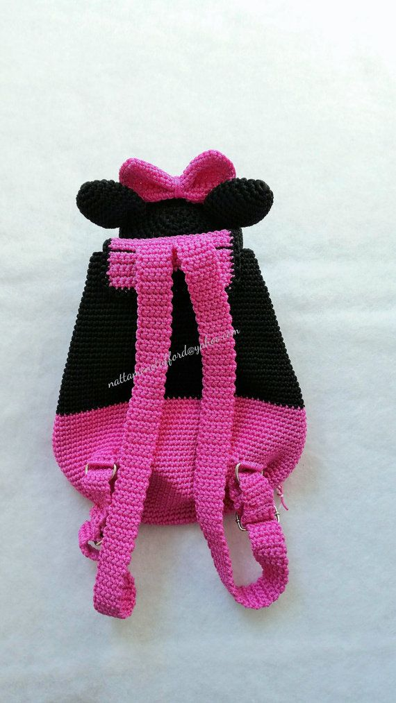 Por Minnie Mano Mochila Hecho Crochet A De Mouse Solutions2511 vqBn0wUR