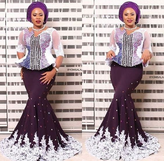 889a88ed95a368 latest aso ebi styles 2018 2. latest aso ebi styles 2018 2 Ankara Skirt And  Blouse, Lace ...