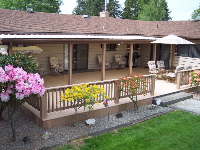 extending the front porch deck past the roof line on steps in discovering the right covered deck ideas id=38296