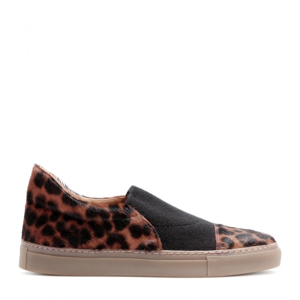 mytheresa.com - Pony hair slip-on sneakers - Sneakers - Shoes - Dries Van Noten - Luxury Fashion for Women / Designer clothing, shoes, bags