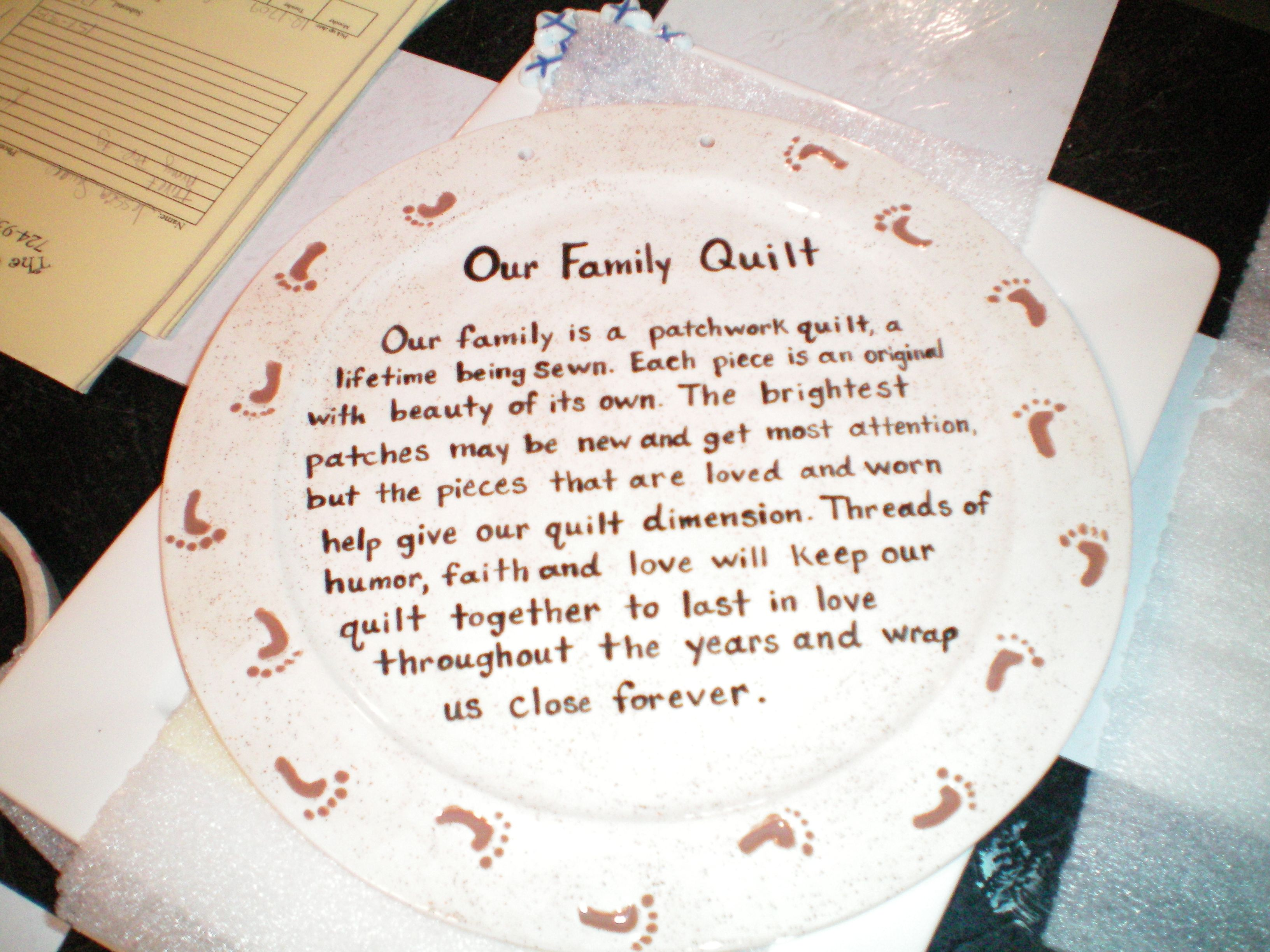 Family Quilt Quotes Quotesgram Messages Quilting