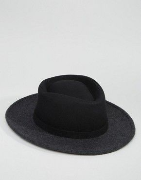 326714b1bf3743 ASOS Wide Brim Pork Pie With Cut And Sew | Hats I want | ASOS, Pork, Pie
