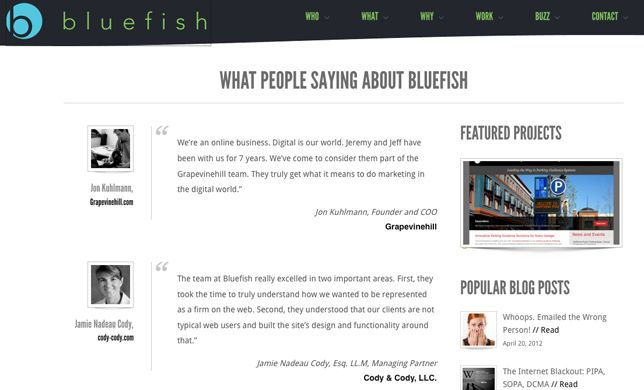10 Examples Of Testimonials Page Design Page Design Fashion Web Design Marketing Techniques