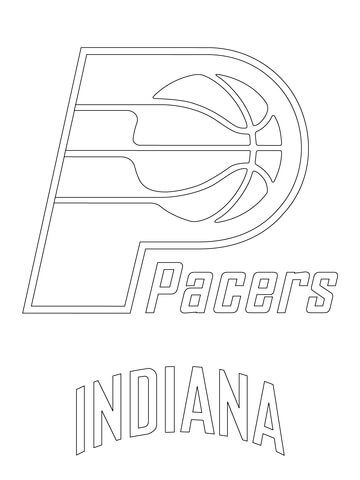 Indiana Pacers Logo Coloring Page Coloring Pages Free Printable