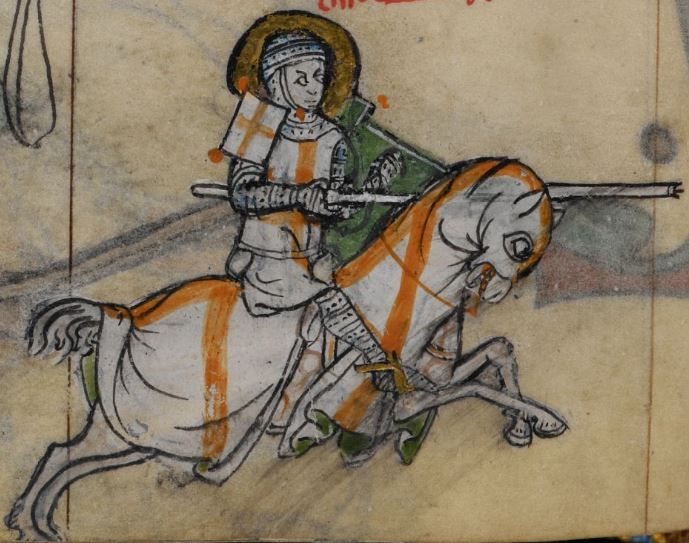 Detail from medieval manuscript, British Library Stowe MS 17 'The Maastricht Hours', f154v