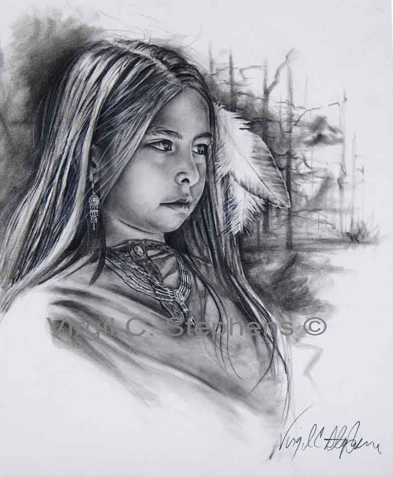 American indian women drawings native american little indian girl drawing western artwork