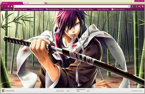 Anime Samurai Chrome Theme Anime warrior, Samurai