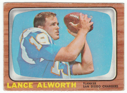 1966 Topps Football #119 Lance Alworth  G/VG  $10