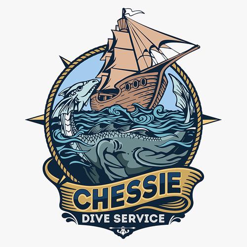 Sea Monster Logo For Dive Service Sea Monsters Grim Reaper Business Logo
