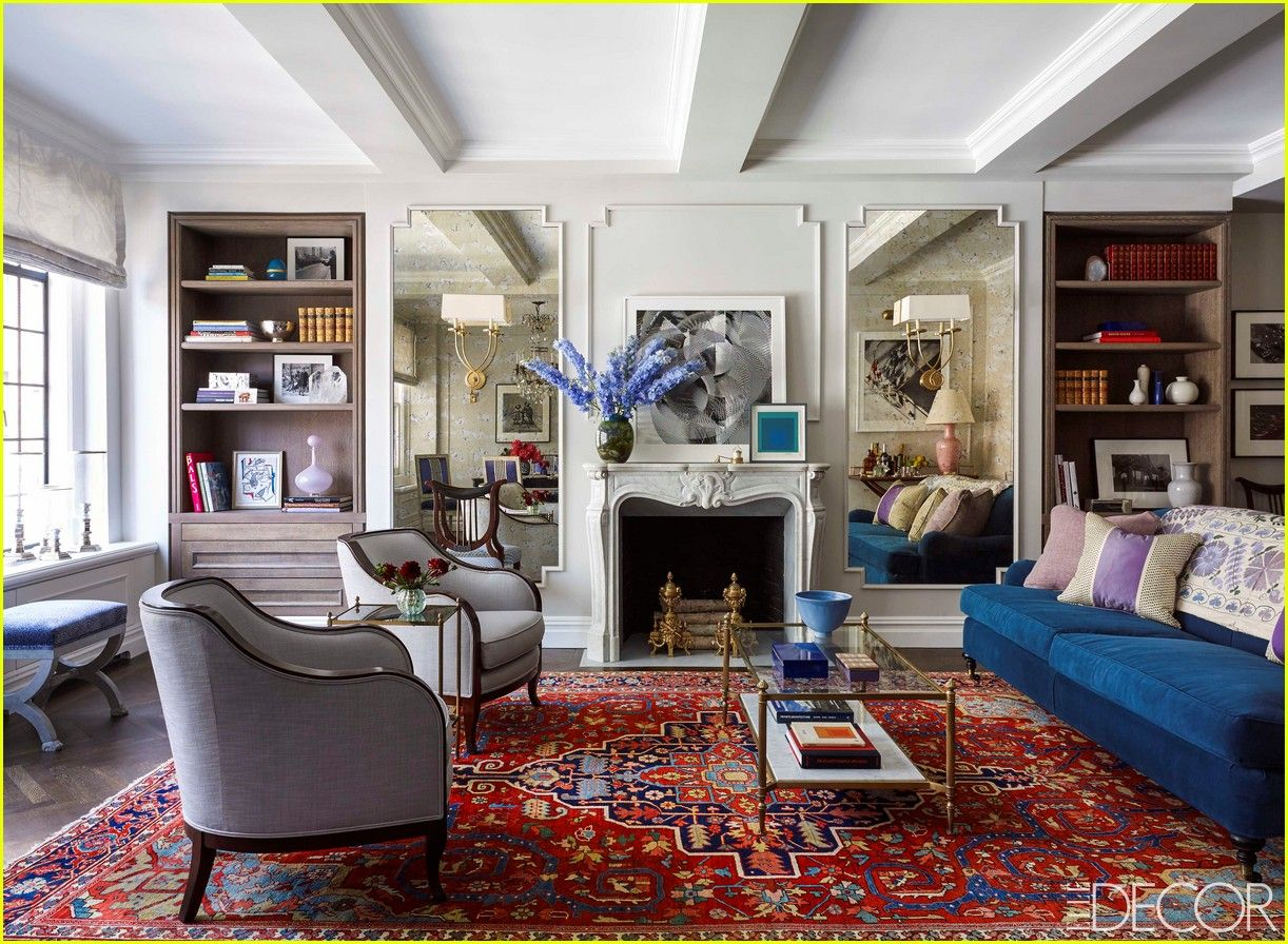 Emmy Rossum Elle Decor Nyc Apartment 03 Luxury Living Room
