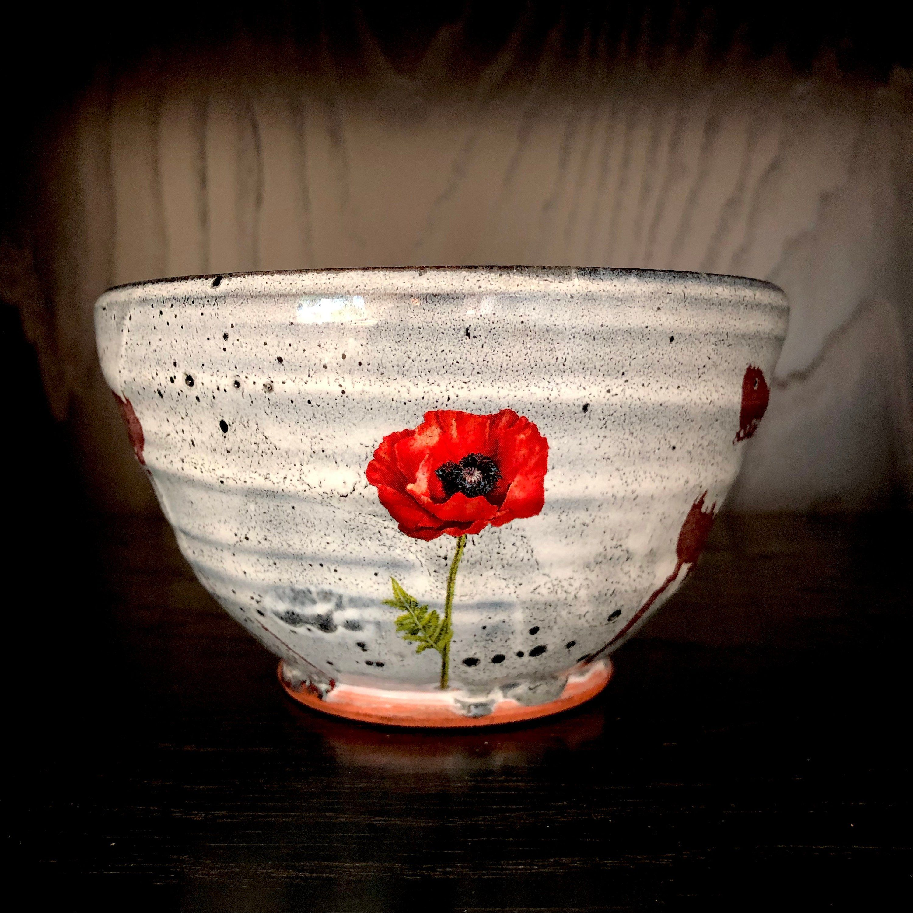 Justin Rothshank Pottery Bowl Red Poppy By Provinceshop On Etsy Red Poppies Pottery Bowls Pottery