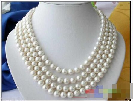 Charming AAA 9-10mm natural Tahitian Black baroque pearl necklace 14k Clasp