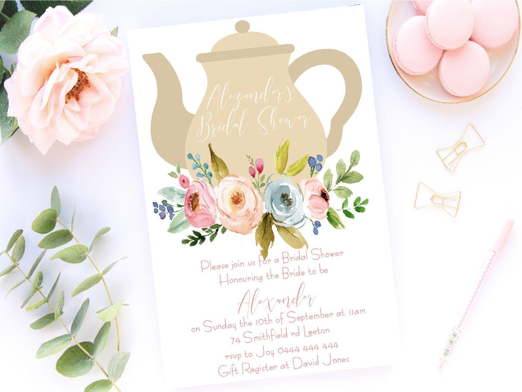BRIDAL SHOWER KITCHEN TEA BRIDE TO BE TEAPOT