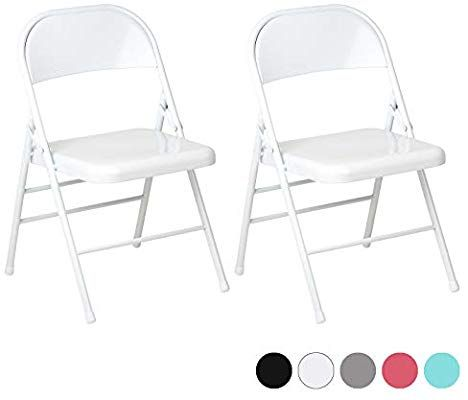 Hartleys Set Of Two Metal Folding Chairs Choice Of Colour