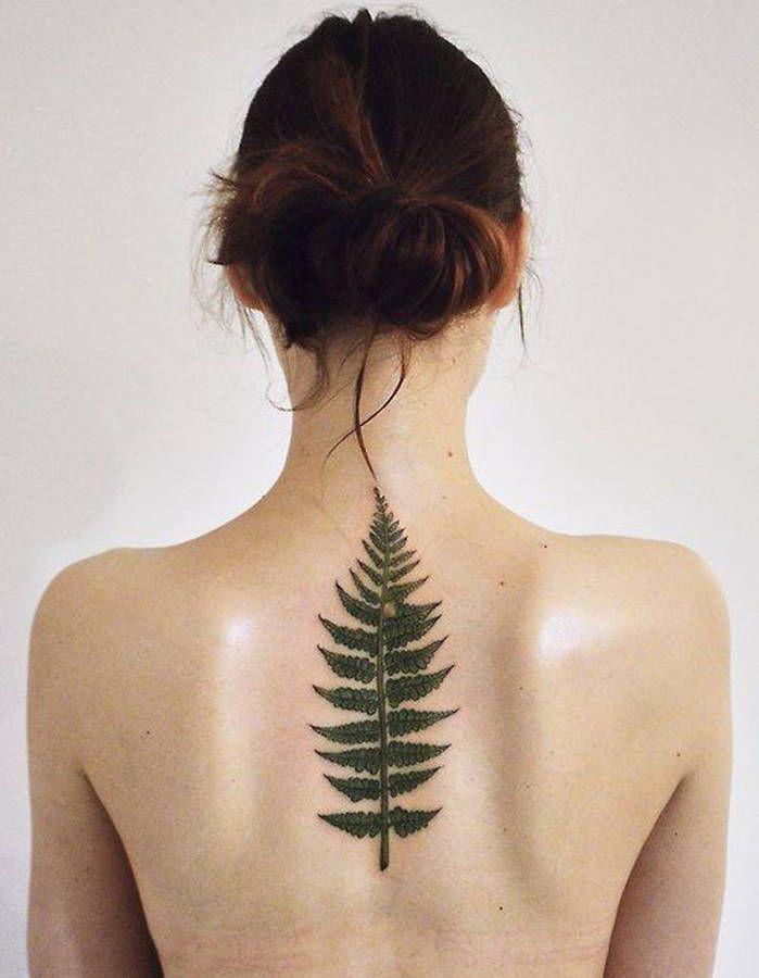 tatouage colonne vert brale en forme de feuille de foug re tatouages tattoo pinterest. Black Bedroom Furniture Sets. Home Design Ideas