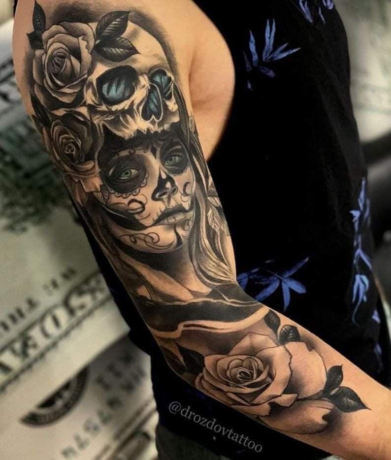 Pin De Jairo Vence En Mios Catrinas Para Tatuar Tatuajes Para Hombres En El Antebrazo Hombres Tatuajes