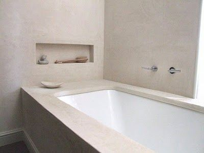 Tadelakt walls to create warmth in the bathroom summer houses
