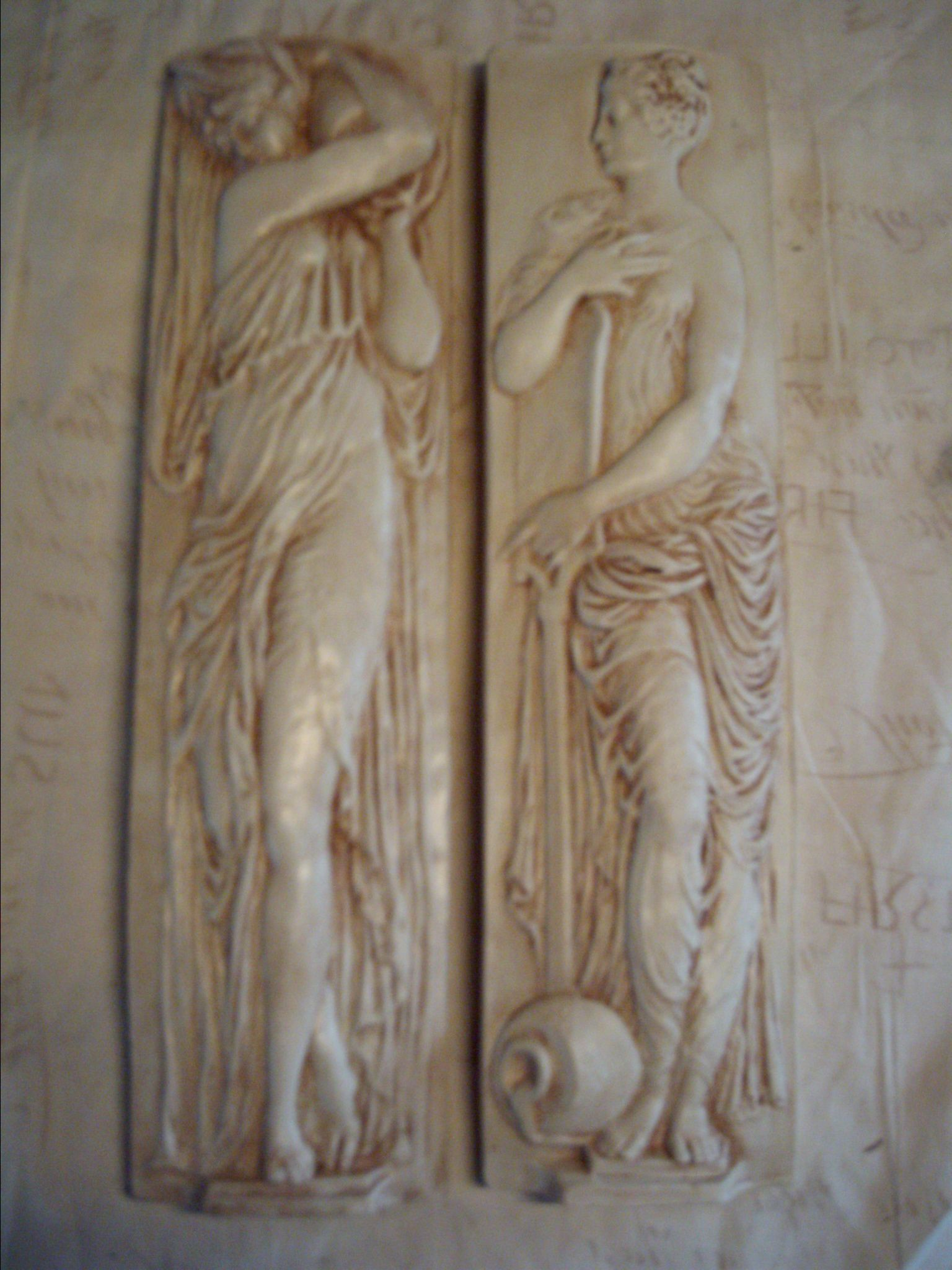2 Greek Water Bearer Decorative Wall Plaques | Wowthankyou.co.uk £15