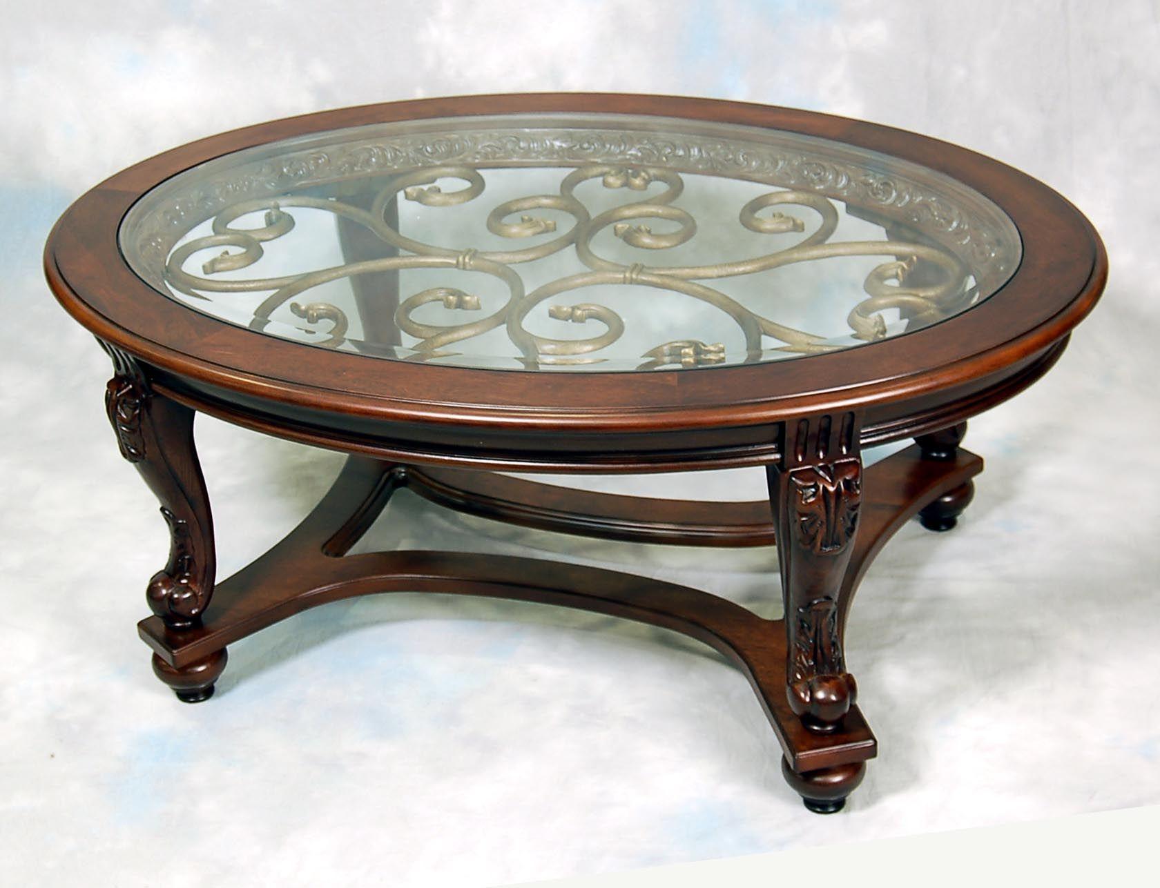 Mahogany Gl Coffee Table